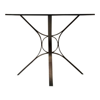 1970s Mid-Century Modern Roger Sprunger for Dunbar Bronze Dinette Table For Sale