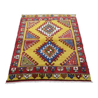1970s Colorful Hand-Knotted Azerbaijan Shirvan Rug For Sale