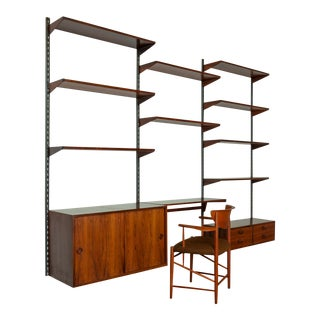 Vintage Rosewood Wall Unit by Kai Kristiansen 1950s For Sale