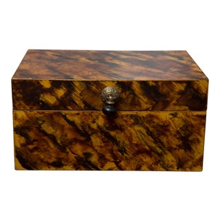 Faux Tortoise Lidded Box