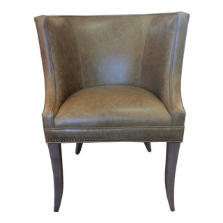 Hickory White Pull-Up Leather Club Chair For Sale