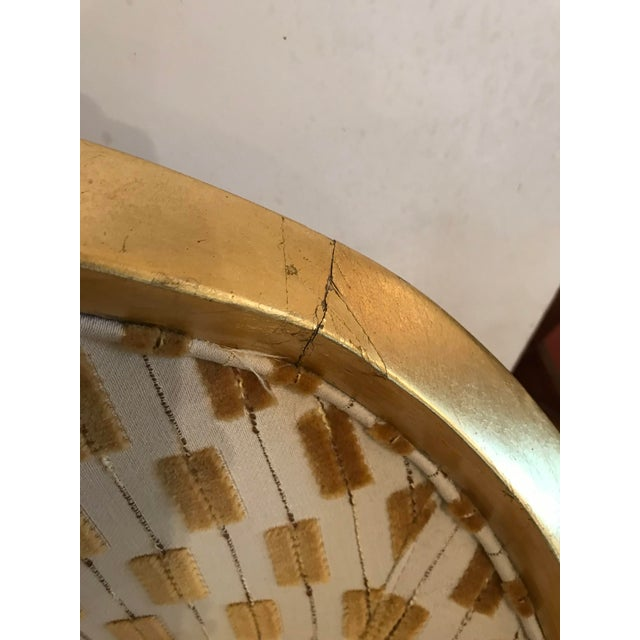 Textile Century Gold Leaf Amelia Chair For Sale - Image 7 of 10