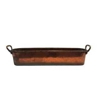 """19th Century French Copper """"Poissonierre"""" Fish Cooker For Sale"""