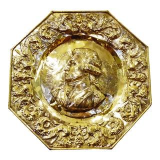 Mid 19th Century Marquis De Lafayette Brass Plaque For Sale