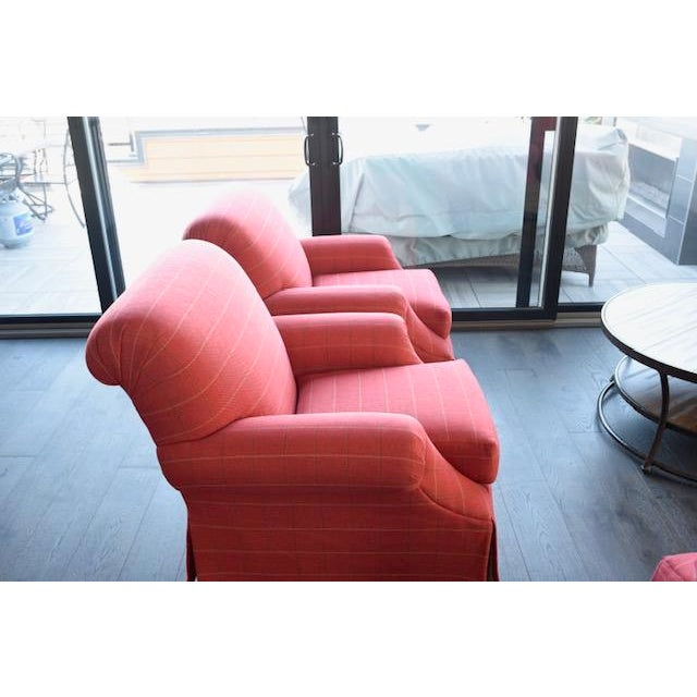 Traditional Modern Transitional Sherrill Custom Made Chairs - A Pair For Sale - Image 3 of 6