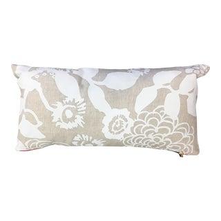 Erin Flett Floral White Patterned Pillow