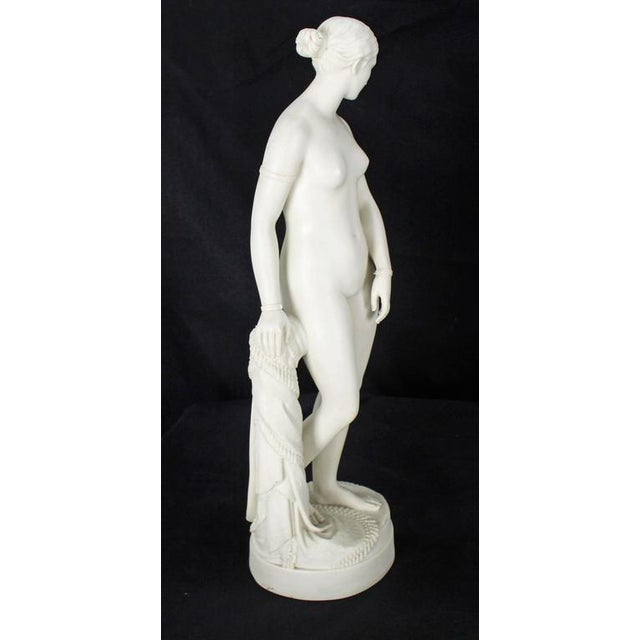 Mid 19th Century 19th Century Fine Porcelain Nude Woman Figurine Tall, Dated 1853 For Sale - Image 5 of 10