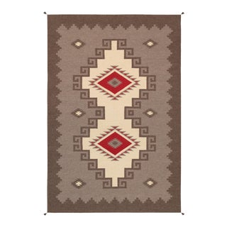 "Pasargad Navajo Style Hand Woven Wool Rug - 5'10"" X 8'11"" For Sale"