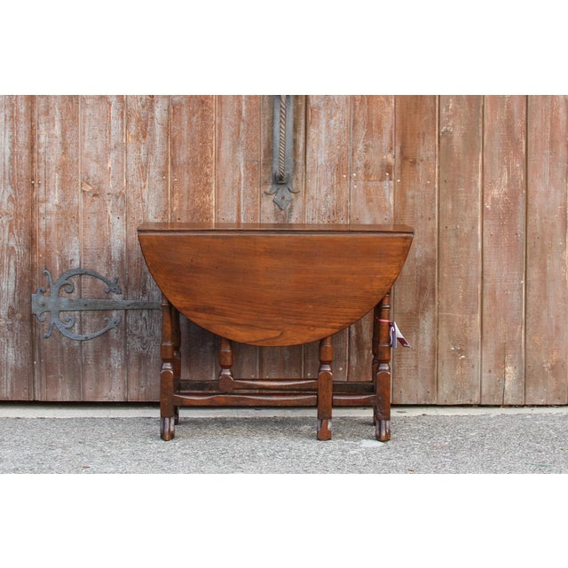 19th C. English Gateleg Console For Sale - Image 11 of 11
