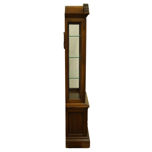 """20th Century French Country Brandt 25"""" Illuminated Curio Display Cabinet With Bonnet Top For Sale - Image 11 of 13"""