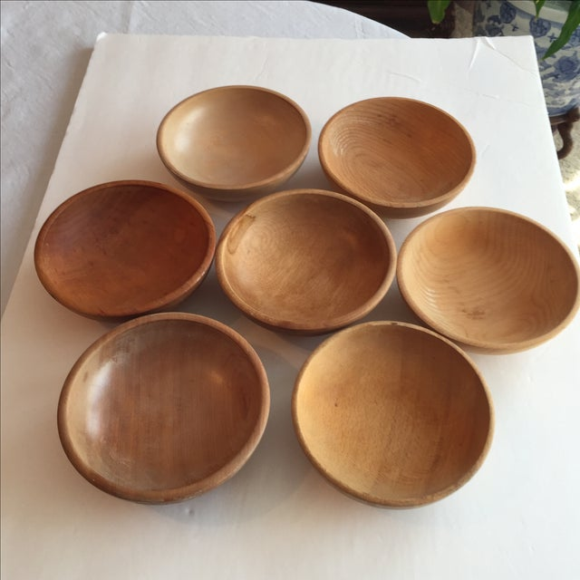 Japanese Wood Bowls - Set of 7 - Image 4 of 8