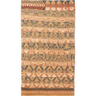 Vintage Mid-Century Geometric Wool Rug - 4′6″ × 7′11″ For Sale