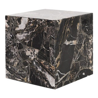 Marble Cube Side Table