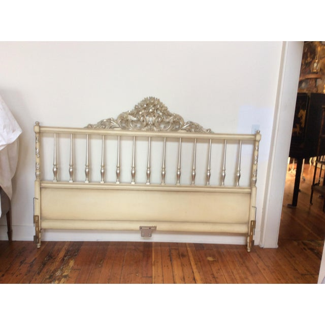 Silvered Accented Carving King Size Headboard - Image 2 of 10