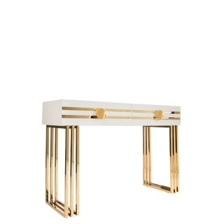 Brooke Gold Console Table For Sale