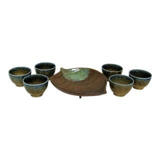 Japanese Porcelain Tea Service, Set of 7 For Sale