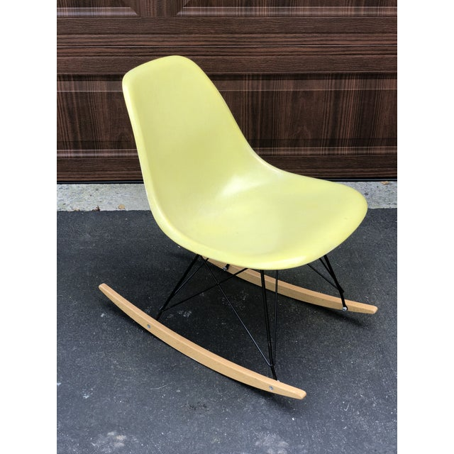 Mid Century Eames Armless Shell Rocker For Sale - Image 10 of 10