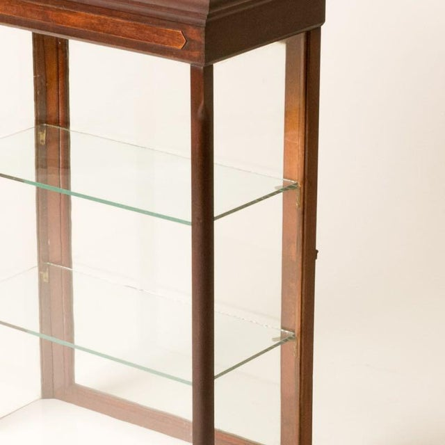 English Late 19th Century Antique English Table Top Display Cabinet For Sale - Image 3 of 6