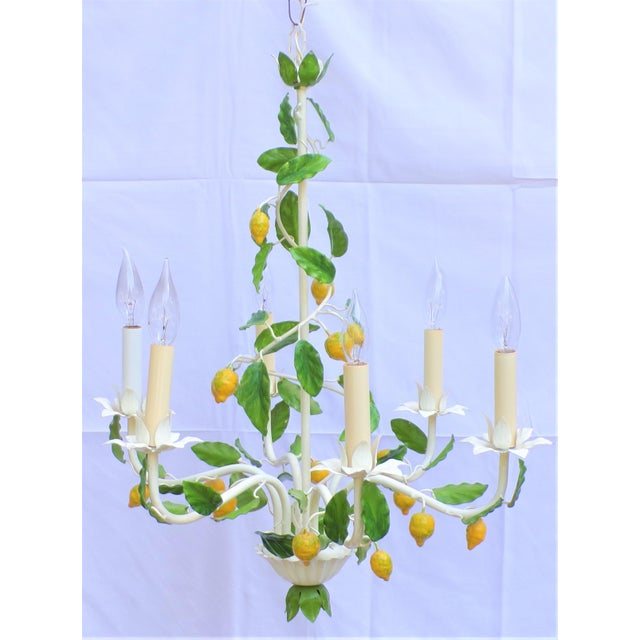 Yellow Vintage Italian Lemon Tree Chandelier For Sale - Image 8 of 13
