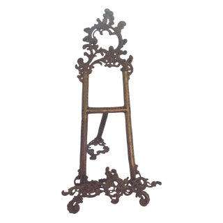 Victorian Rococo Brass Picture Easel