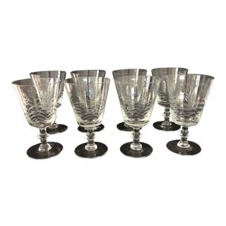 Antique Traditional Crystal Wine Glasses - Set of 8 For Sale