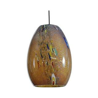 Millefior Murano Art Glass Mini Pendant Lamp For Sale