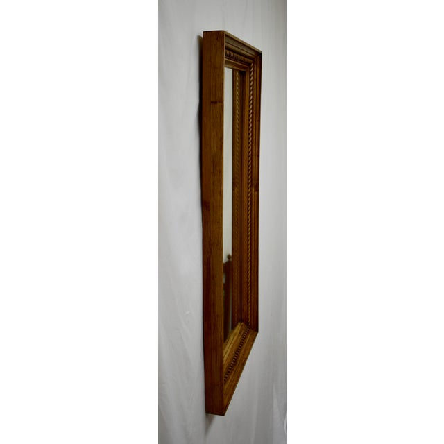 Country Pine Framed Rope Twist Mirror For Sale - Image 3 of 6