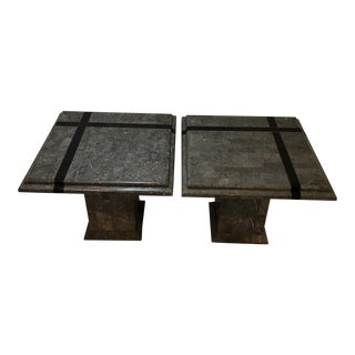 Maitland - Smith Tessellated Stone Side Tables - a Pair For Sale