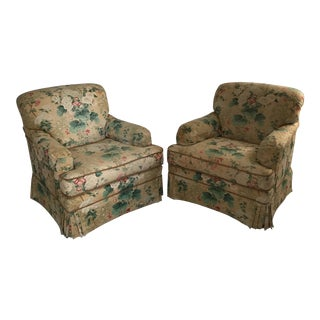 Hollyhock Linen Club Chairs - A Pair