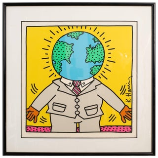 Keith Haring Numbered Lithograph For Sale