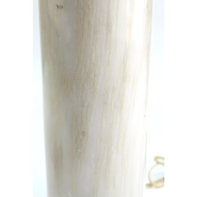 Nessen Studio Mid-Century Modern Nessen Table Lamps in White Marble - a Pair For Sale - Image 4 of 13