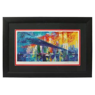 "1995 ""Brooklyn Bridge"" Lithograph Ltd Ed Signed by American Artist LeRoy Neiman For Sale"