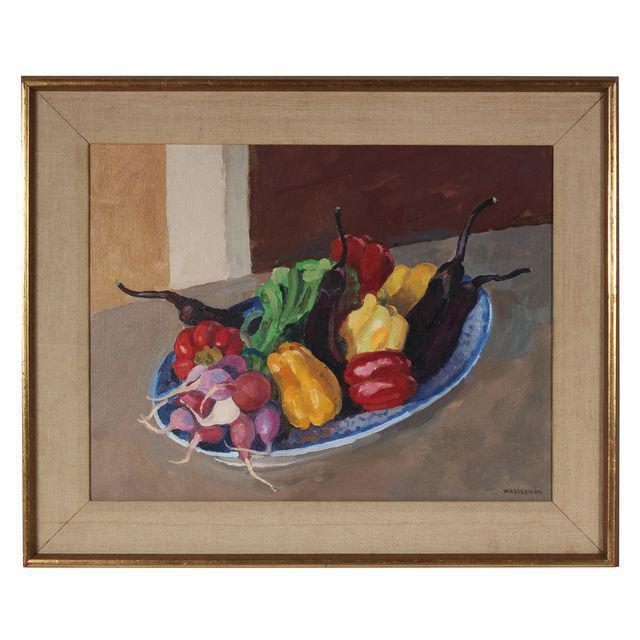 Modern Garden Vegetables Still Life Painting in Oil For Sale - Image 3 of 3