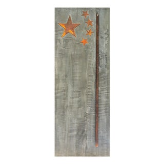 """Pierre Auville """"Stars & Sticks"""", Mixed Media For Sale"""