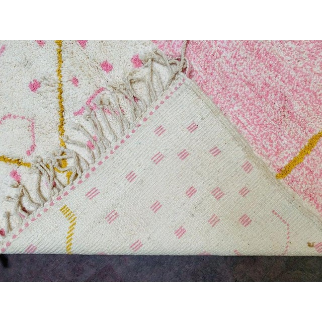 Art Deco Pink Moroccan Rug - 9′10″ × 13′3″ For Sale - Image 3 of 11