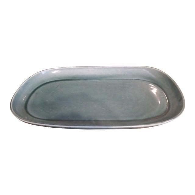 Russel Wright Mid-Century Green Platter - Image 1 of 4