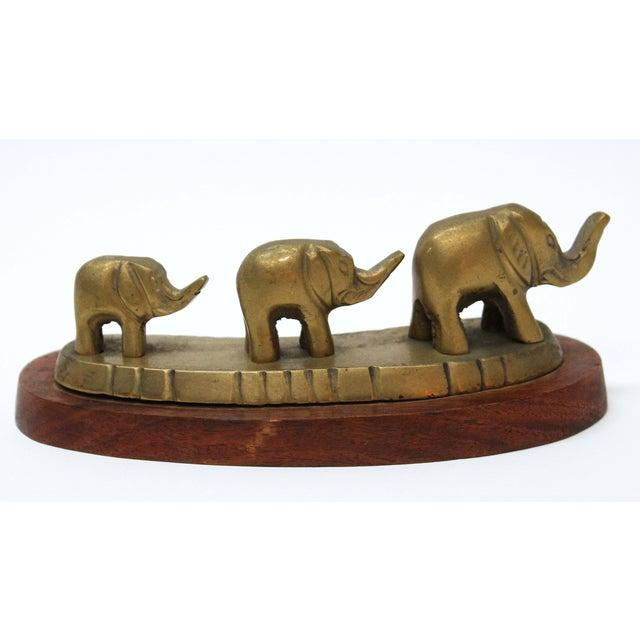 Vintage Brass Elephant Family - Image 2 of 5