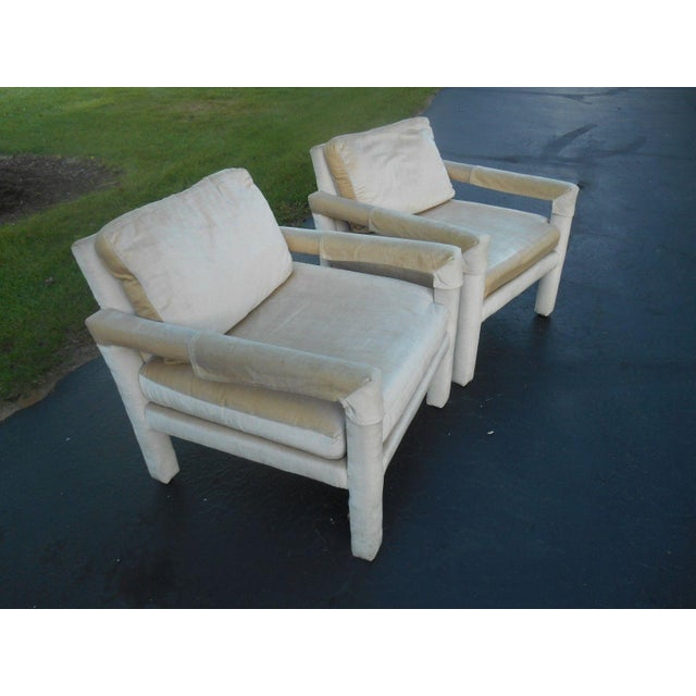 Drexel Parsons Style Club Chairs - A Pair - Image 4 of 7