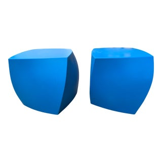 Early 21st Century Frank Gehry Left Twist Cube Side Tables - a Pair For Sale