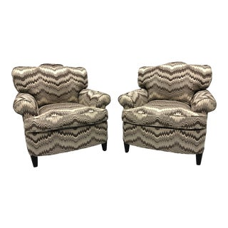 Charles Stewart Transitional Style Club Chairs - a Pair For Sale