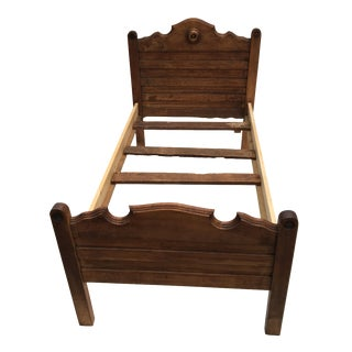 Antique Wooden Child's Bed For Sale
