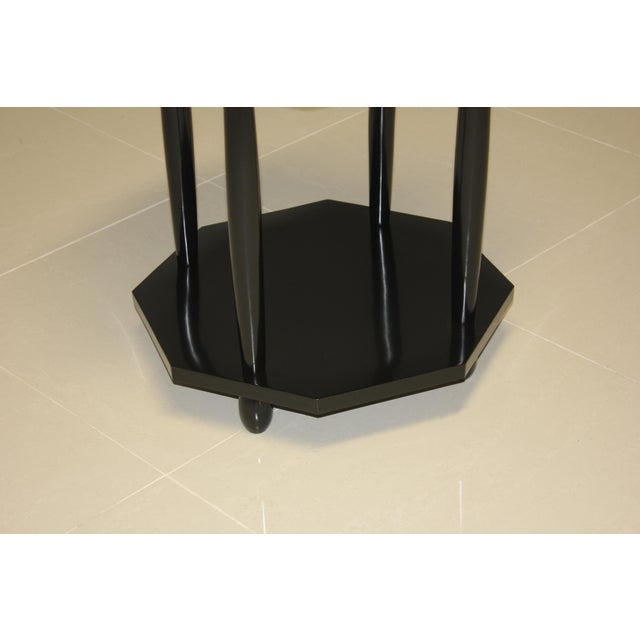 1940s French Art Deco Black Ebonized Coffee/Side Table For Sale - Image 11 of 13