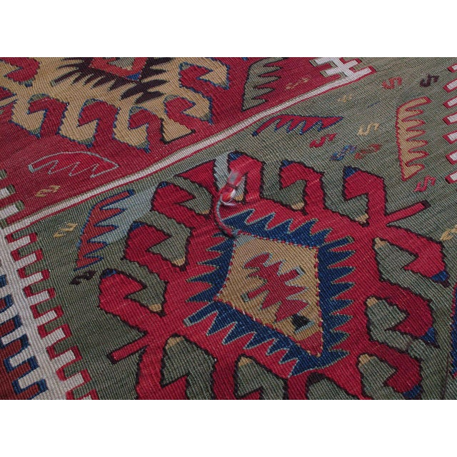 Kilim with Ascending Arches For Sale - Image 9 of 10