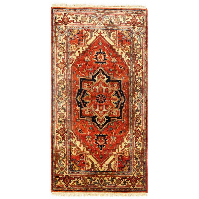 """Pasargad NY Fine Serapi Design Hand-Knotted Rug - 2'10"""" X 5'5"""" For Sale - Image 4 of 4"""