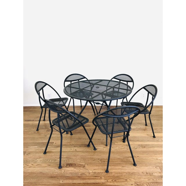 1960s Mid Century Modern Rid-Jid Folding Patio Table & 6 Chairs Set, 7 Pieces For Sale - Image 11 of 11