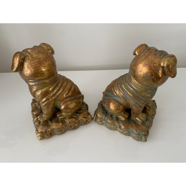 """""""Borghese"""" Gilt Pug Bookends - a Pair For Sale In Miami - Image 6 of 9"""