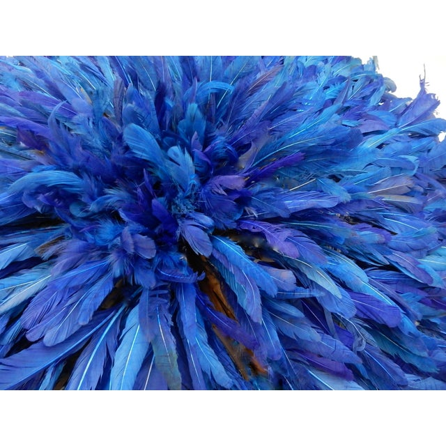Juju Hat Cobalt Blue African Wall Hanging - Image 4 of 6