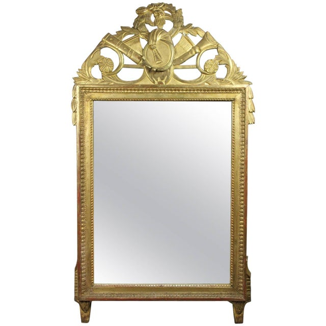 Louis XVI Giltwood Mirror For Sale In Boston - Image 6 of 6