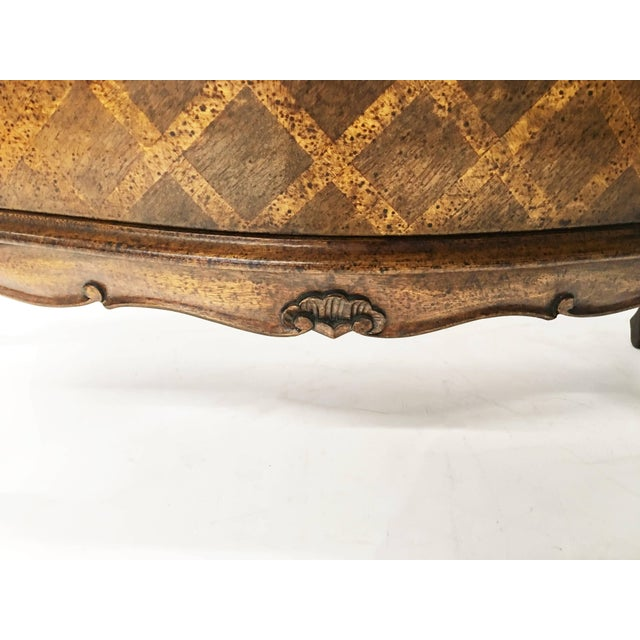 Rococo Italian Bombe Parquetry Commode For Sale - Image 3 of 10