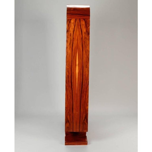 1940s Vintage French Art Deco Style Burl Wood Étagère For Sale In Los Angeles - Image 6 of 9